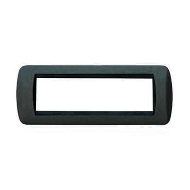 Placca CAL Living International 7 moduli grigio ardesia ardesia compatibile con living light