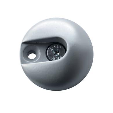Supporto tubo appendiabiti H 4.8 x P 1.9 cmgrigio / argento