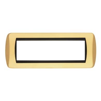 Placca Living International CAL 7 moduli oro satinato