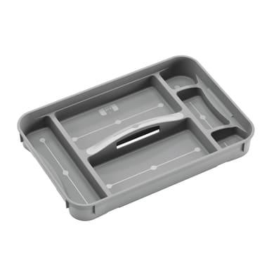 Vassoio per accessori L 52 x H 7 x P 35.5 cm grigio