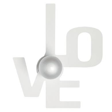Applique moderno Love bianco, in ferro, 25x30 cm, SFORZIN
