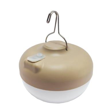 Lampada da esterno CHERRY BULB BATTERY BEIGE 9W H 12 cm, luce bianco caldo, LED integrato IP54
