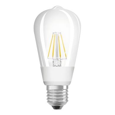 Lampadina LED, E27, Goccia, Trasparente, Luce calda, 7W=806LM (equiv 60 W), 300° , OSRAM