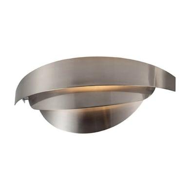 Applique moderno Mask grigio, in alluminio, 13x38 cm,