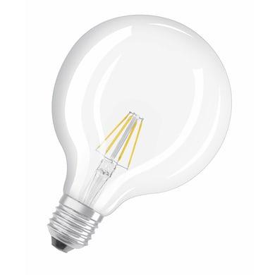 Lampadina LED filamento E27, Globo, Trasparente, Bianco caldo, 7W=250LM (equiv 60 W), 320° , OSRAM