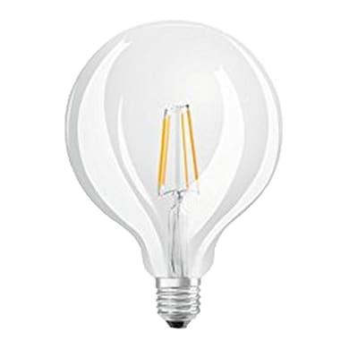 Lampadina LED, E27, Globo, Trasparente, Luce calda, 7W=806LM (equiv 60 W), 300° , OSRAM