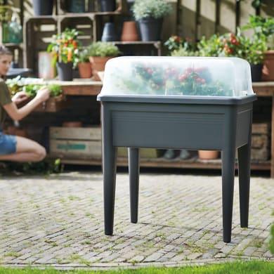 Box giardino urbano in polipropilene green basics grow table super xxl ELHO nero L 58.1 x P 76.7 x H 73.3 cm
