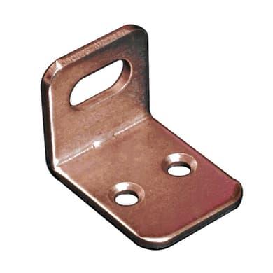 Piastra angolare in acciaio bronzato Sp 2 x H 21 mm  4 pezzi