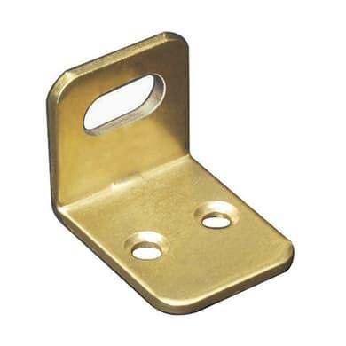 Piastra angolare in acciaio ottonato Sp 2 x H 21 mm  4 pezzi