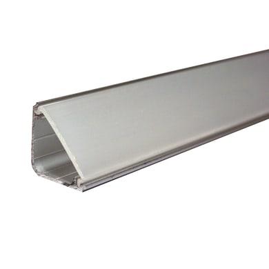 Profilo in alluminio 2 m x 2 cm grigio