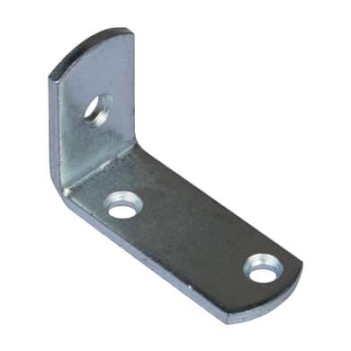 Piastra angolare in acciaio zincato Sp 2 x H 15 mm  4 pezzi