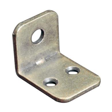 Piastra angolare in acciaio nichelato Sp 2 x H 21 mm  4 pezzi
