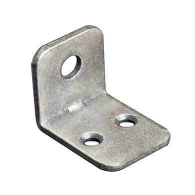 Piastra angolare in acciaio zincato Sp 2 x H 21 mm  4 pezzi