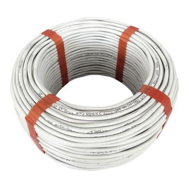 Cavo elettrico cavo citofonico GCO 2 fili x 0,75 mm² Matassa grigio