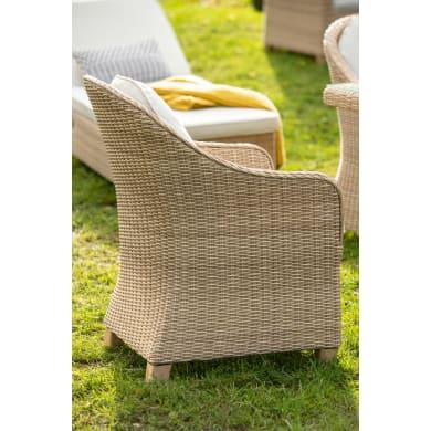 Poltrona da giardino con cuscino  in alluminio NATERIAL colore natural