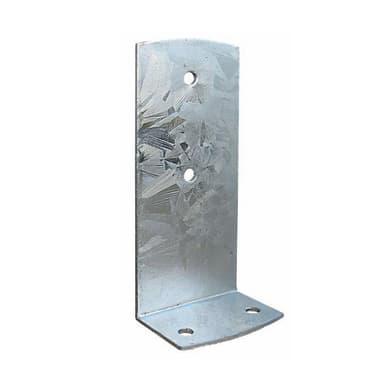 Piastra angolare in acciaio zincato L 225 x Sp 4 x H 90 mm