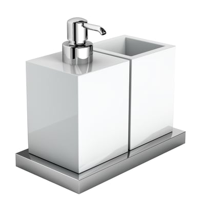 Bicchiere porta spazzolini Xoni in ceramica grigio