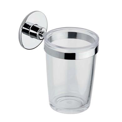 Bicchiere porta spazzolini Wind in plastica trasparente