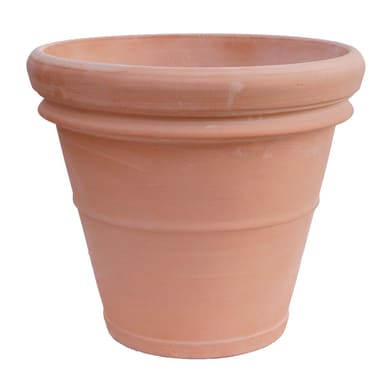 Vaso in terracotta colore marrone H 30 cm, Ø 34 cm