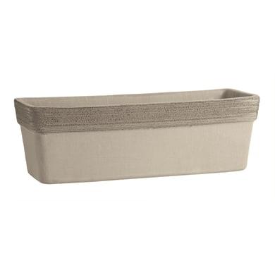 Cassetta portafiori in ceramica colore marrone H 16 cm, L 40 x P 18 cm