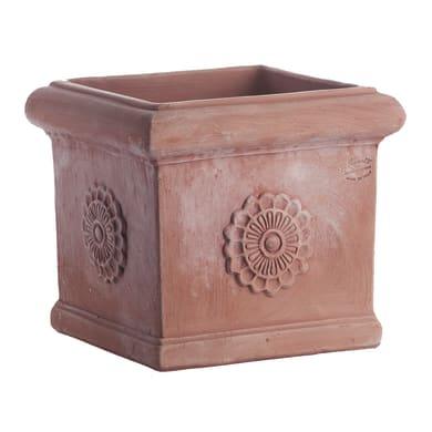 Vaso in terracotta colore marrone H 29 cm, L 33 x