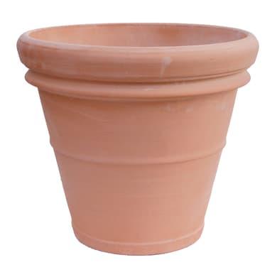 Vaso in terracotta colore marrone H 50 cm, Ø 57 cm