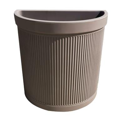Vaso in plastica colore tortora H 54 cm, Ø 61 cm