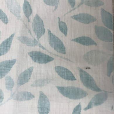 Tessuto al taglio Foglie azzurro 58 cm