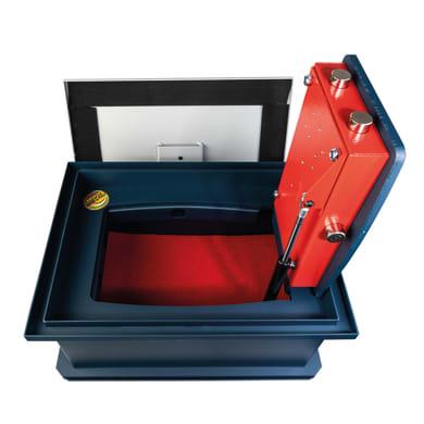 Cassaforte a chiave TECHNOMAX da murare / da incassare a pavimento L44 x P32 x H21 cm