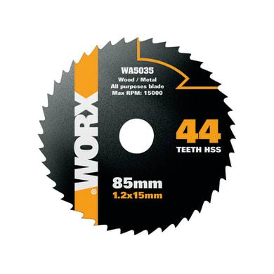Lama per sega circolare WORXSAW DISCO TAGLIO UNIVERSALE 85MM acciaio Ø 85 mm 44 denti