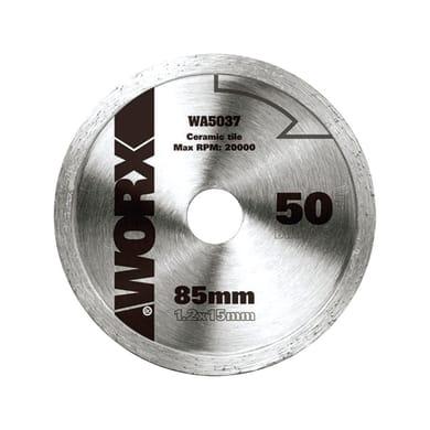 Disco di taglio WORX DISCO TAGLIO DIAMANTATO 85MM acciaio Ø 85 mm 0 denti