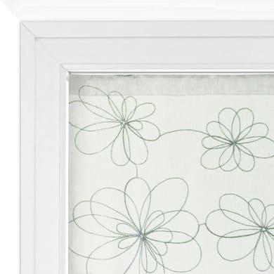 Tendina vetro Caterina argento tunnel 60 x 240 cm