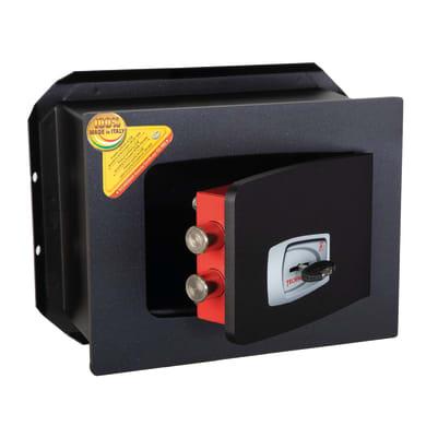 Cassaforte a chiave TECHNOMAX da murare L27 x P20 x H21 cm
