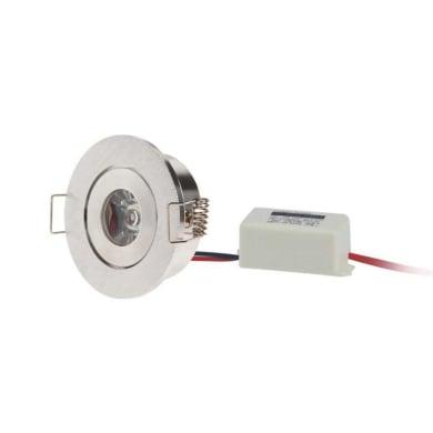 Faretto orientabile da incasso tondo Faretto tondo  in Ferro e plastica bianco, LED integrato 1W 100LM IP20