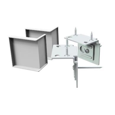 Accessori di montaggio L 4.5 x P 3.5 cm bianco