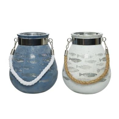 Porta tea light KAEMINGK H 16 cm, L 14 x L 14 cm