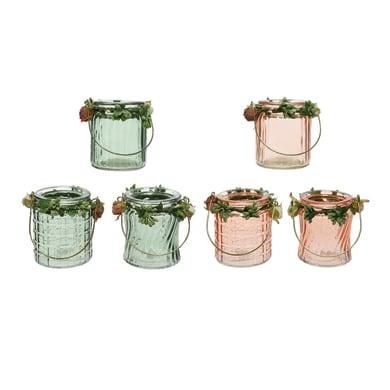 Porta tea light KAEMINGK H 9 cm, L 8 x L 8 cm