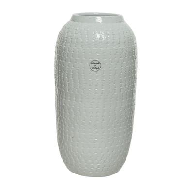Vaso KAEMINGK in terracotta colore bianco H 40 cm, Ø 40 cm