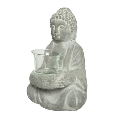 Porta tea light in ceramica KAEMINGK H 20 cm, L 12.5 x L 14 cm