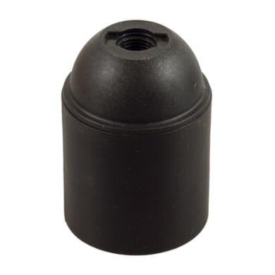 Portalampada E27 nero