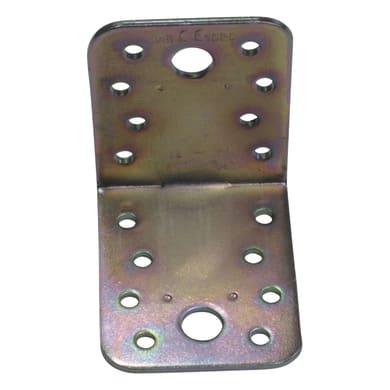 Piastra angolare STANDERS in acciaio zincato L 67 x Sp 2.5 x H 55 mm