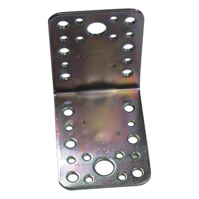Piastra angolare STANDERS in acciaio zincato L 87 x Sp 2.5 x H 65 mm