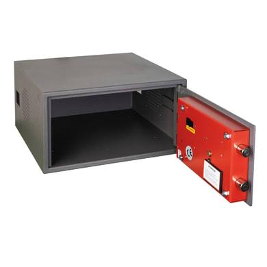 Cassaforte con codice elettronico TECHNOMAX TVC/21E da fissare a parete/da mobile con fissaggio L 40 x P 40 x H 21 cm