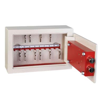 Cassaforte a chiave TECHNOMAX da fissare a parete L31 x P10 x H20 cm