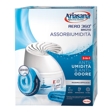 Kit assorbiumidità HENKEL Ariasana Aero 360° BAGNO neutro 450g