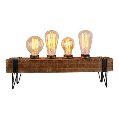 Lampada da scrivania Woodhill trasparente, in vetro, E27 4xMAX60W IP20 BRILLIANT
