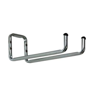 Gancio per garage a U doppio L 16 x H 42 cm acciaio zincato