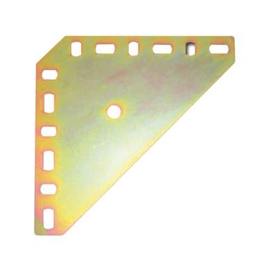 Piastra angolare STANDERS in acciaio zincato L 140 x Sp 2 x H 140 mm