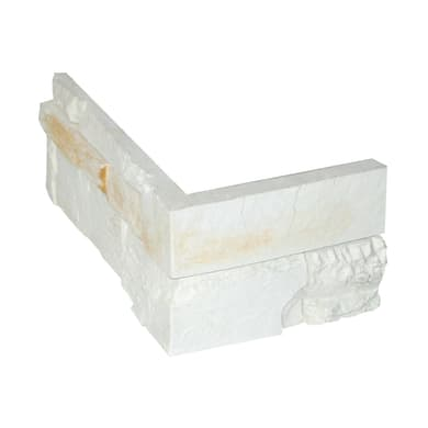 Angolo Santorin 30 x 2.5 cm bianco