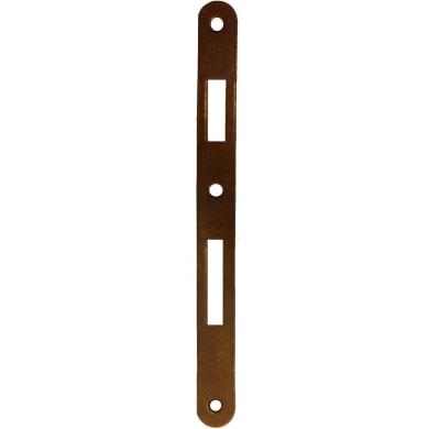 Piastra Incontro per serratura patent d90 L 238 x Sp 3 x H 22 mm